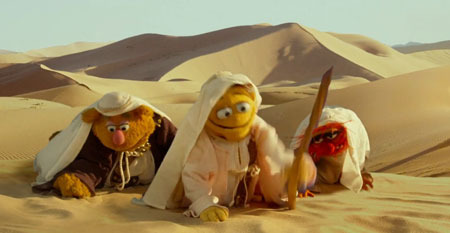 Fozzie Bear, Walter and Animal on an Arabian adventure