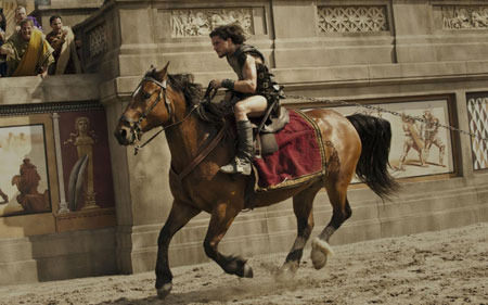 Skilled horseman Milo in the arena