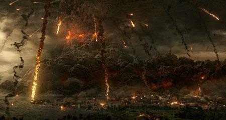 Mt. Vesuvius blows!