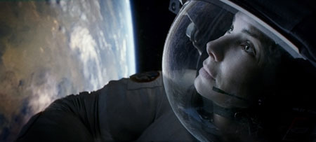 Astronaut Ryan Stone marvels at Earth from space
