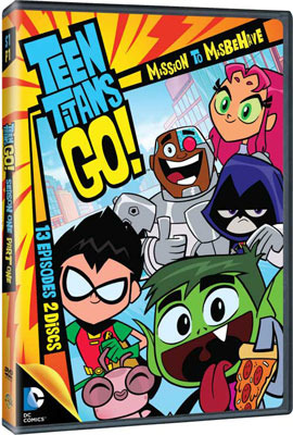 Teen Titans GO! Mission to Misbehave DVD