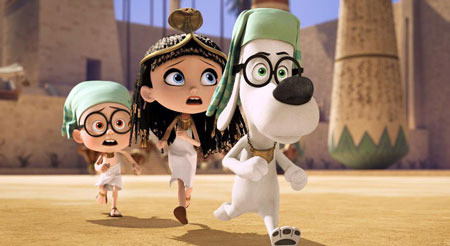 Sherman, Penny and Mr. Peabody in ancient Egypt