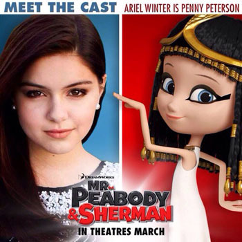 Ariel with her time traveling character Penny