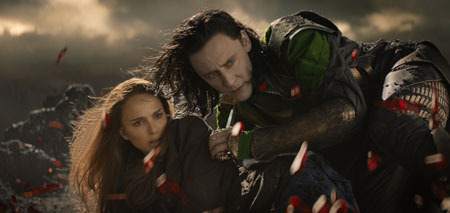 Jane with Loki