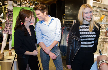 Zoey, Dominic and Lucy at meet and greet