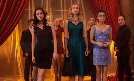 Rose, Lissa and Natalie arrive at the school dance