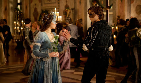Romeo and Juliet meeting at the ball