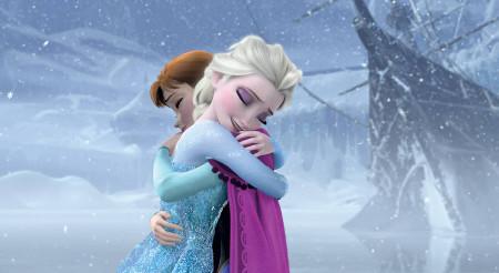 Anna and Elsa reuniting
