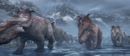 Patchi and his herd make their annual migration across the frozen Alaskan tundra