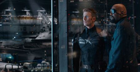 Nick Fury and Captain America discuss S.H.I.E.L.D.'s new project