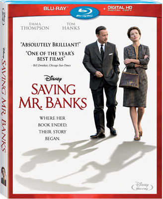 Saving Mr. Banks Blu-ray and DVD Cover