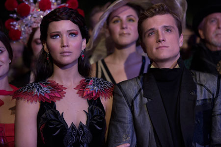 Katniss and Peeta at the Capitol Party