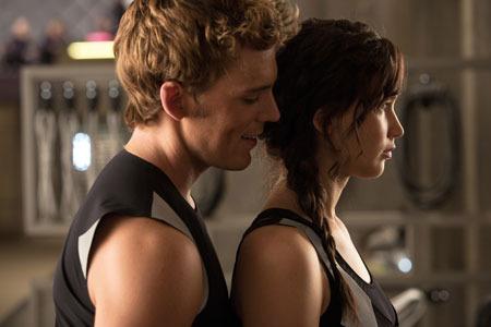 Finnick cozies up to Katniss