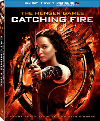 The Hunger Games: Catching Fire Blu-ray and DVD Cover