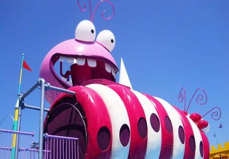 Top of Fun Land slide area