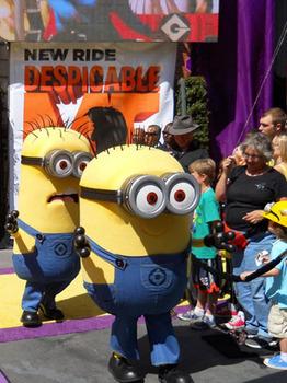 Minions meet their fans