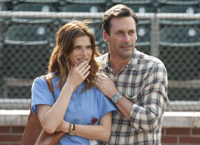 Lake Bell as Brenda and Jon Hamm as J.B.