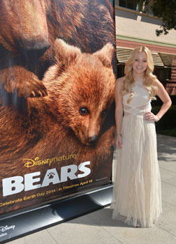 Olivia with the Disneynature BEARS Poster