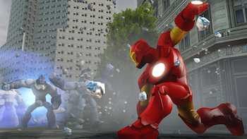 Iron Man taking care of business