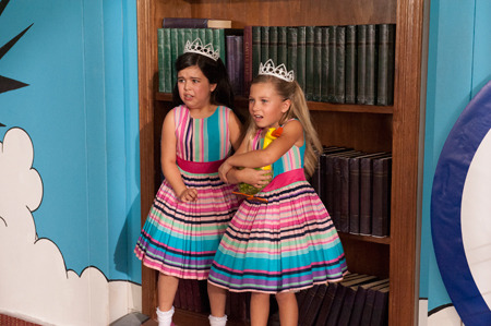 Sophia Grace and Rosie in matching outfits