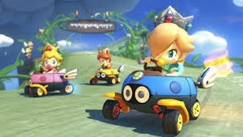 The babies invade Mario Kart.