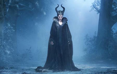 Dark fairy Maleficent in her forest lair