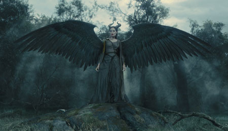 Younger Maleficent with wings