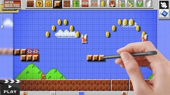 Mario Maker lets you build your own Mario levels and share them with your friends!