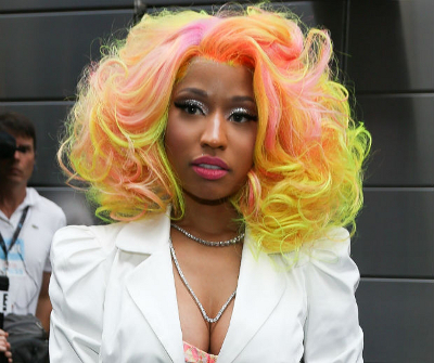 Nicki's multi-colored curls