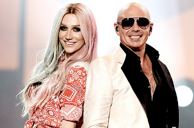 Ke$ha and Pitbull at the AMAs