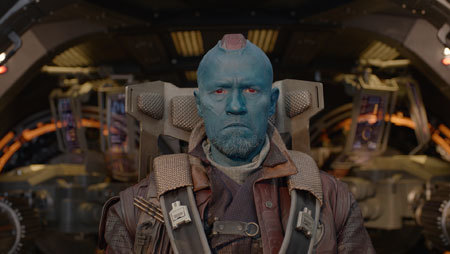 Yondu (Michael Rooker) chases Quill down
