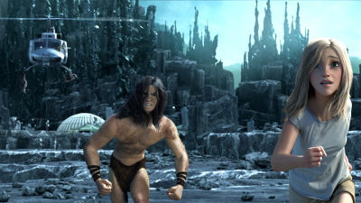 Tarzan was filmed in motion capture, can see Spencer in Jane (above)?