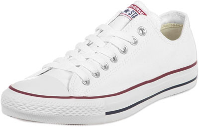 White Converse Chuck Taylors are always a classic
