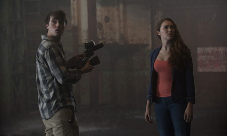 Donnie (Max Deacon) and Kaitlyn (Alicia) hear the storm coming