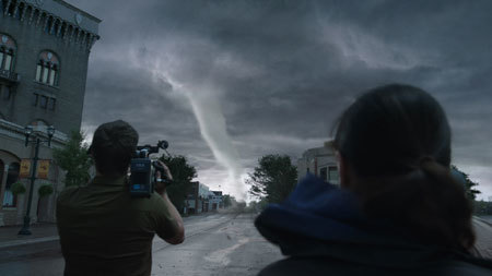 Recording the start of the storm