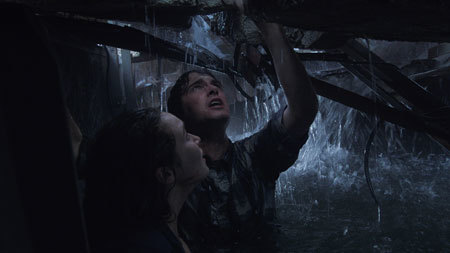 Kaitlyn and Donnie as the storm waters rise