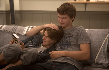 Hazel and Gus share a touching moment