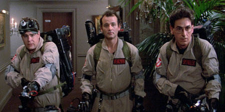 Ghostbusters on their first job