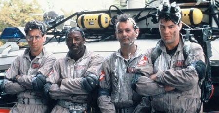 The Ghostbusters post-marshmallow sliming