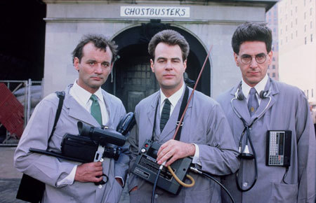 Ghostbusters do a TV commercial