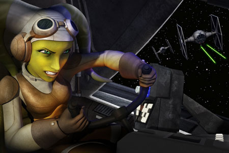 Rebel pilot Hera in action