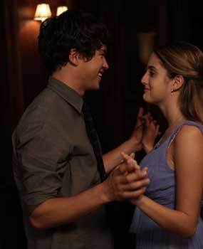 Tobey (Graham Philips) and Beckett (Sophia Curtis) fall in love