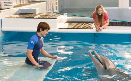 Sawyer (Nathan Gamble) converses with Winter