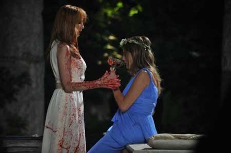 Beckett, an intended victim, with Pamela