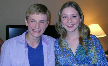 Cozi with costar Nathan Gamble at our interview