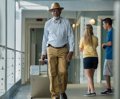 Dr. McCarthy (Morgan Freeman) arrives with Winter's improved tail
