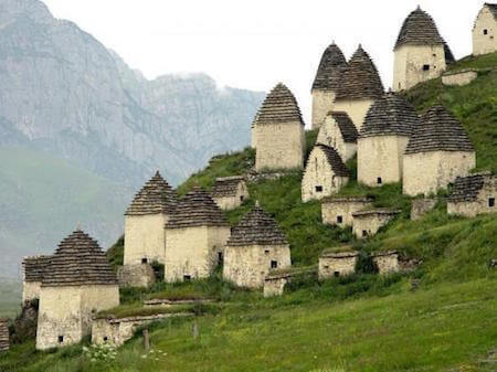 It looks like a village, but look again: those little houses are actually tombs!