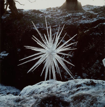 Goldsworthy's beautiful ice star.