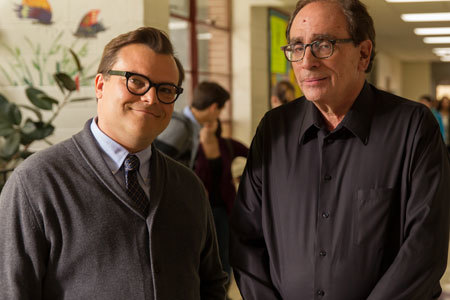 Jack Black with the real R.L. Stine