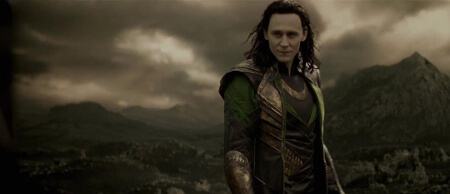 Tom is the ultimate bad guy as Loki